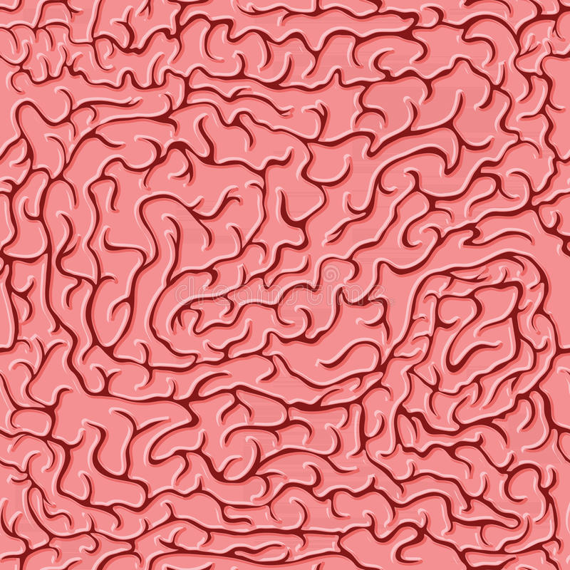 Seamless pattern brains. Vector illustration stock images