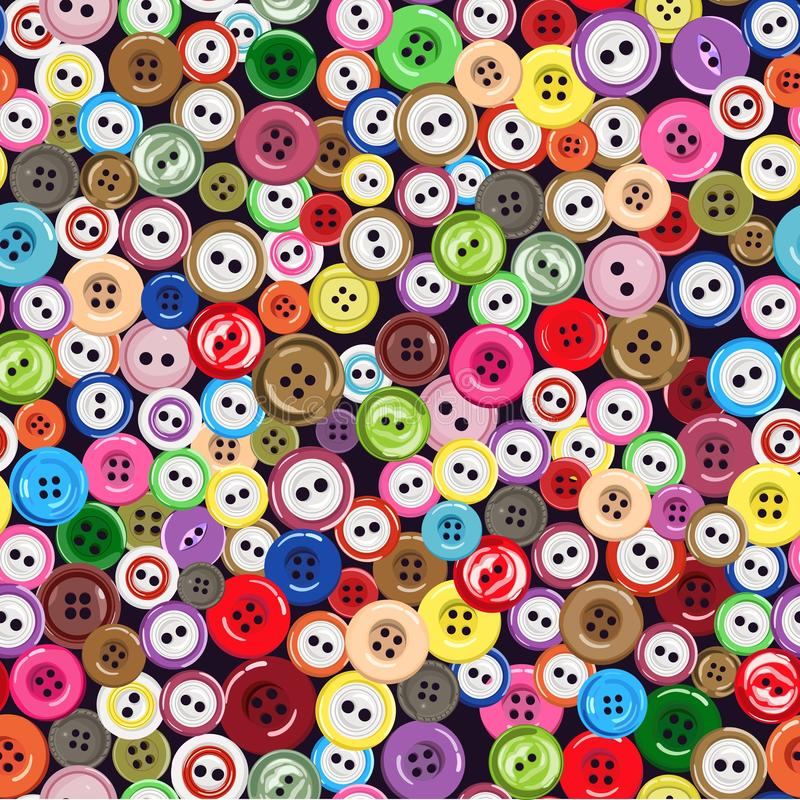 Seamless pattern with bright buttons. Vector illustration. royalty free illustration