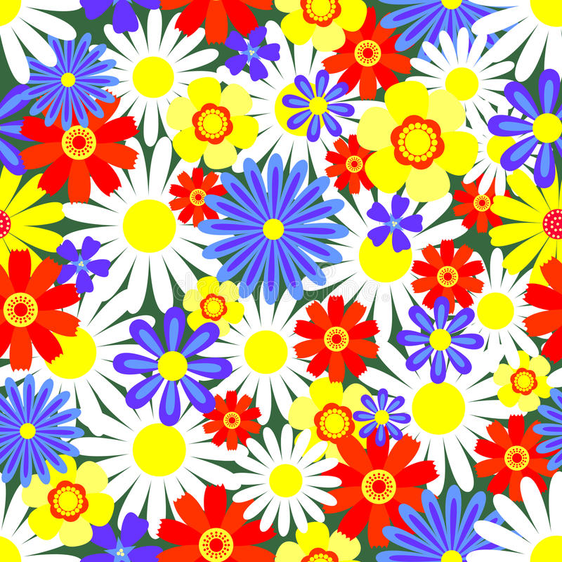 Download Seamless Pattern Bright Flowers. Stock Vector - Image: 17037259