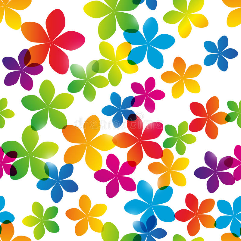 Seamless pattern with bright flowers royalty free illustration