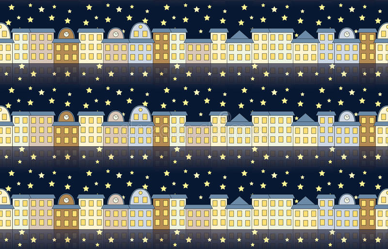 Download Pattern With Buildings At Night Stock Vector - Image: 29753058