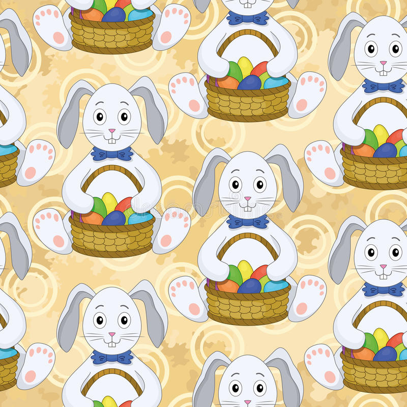 Download Seamless Pattern, Bunnies With Easter Eggs Stock Vector - Image: 43040571
