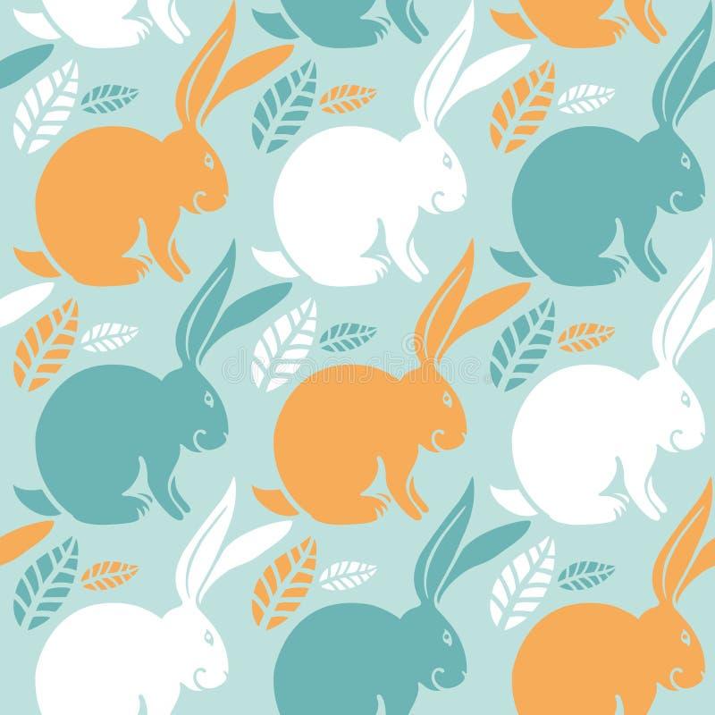 Seamless pattern, bunny stock photo