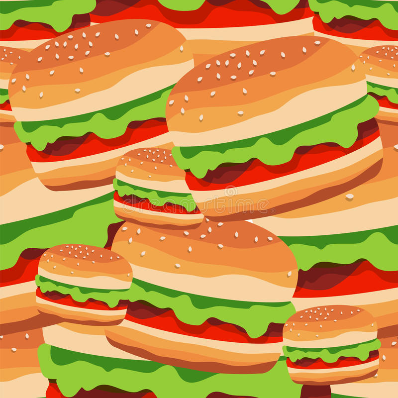 Download Seamless Pattern Of The Burgers Vector Il Ration Of Fast Foo Stock Vector Il Ration