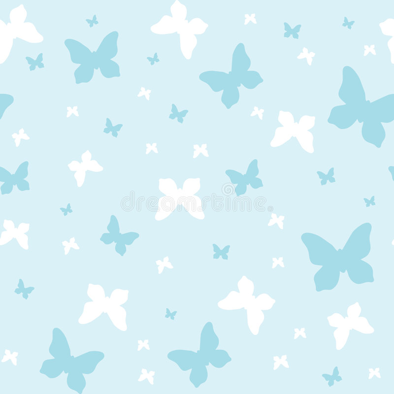 Seamless pattern, butterflies royalty free illustration