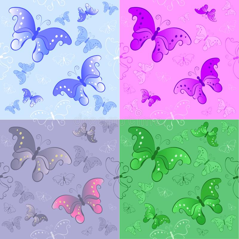 Seamless pattern from butterflies