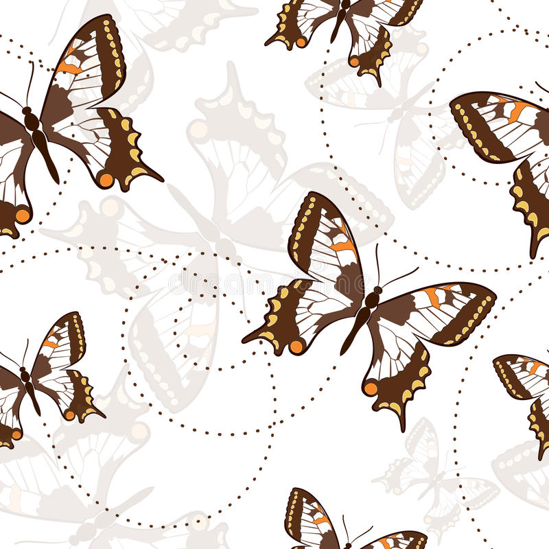 Download Seamless Pattern With Butterflies Stock Vector - Image: 33613712