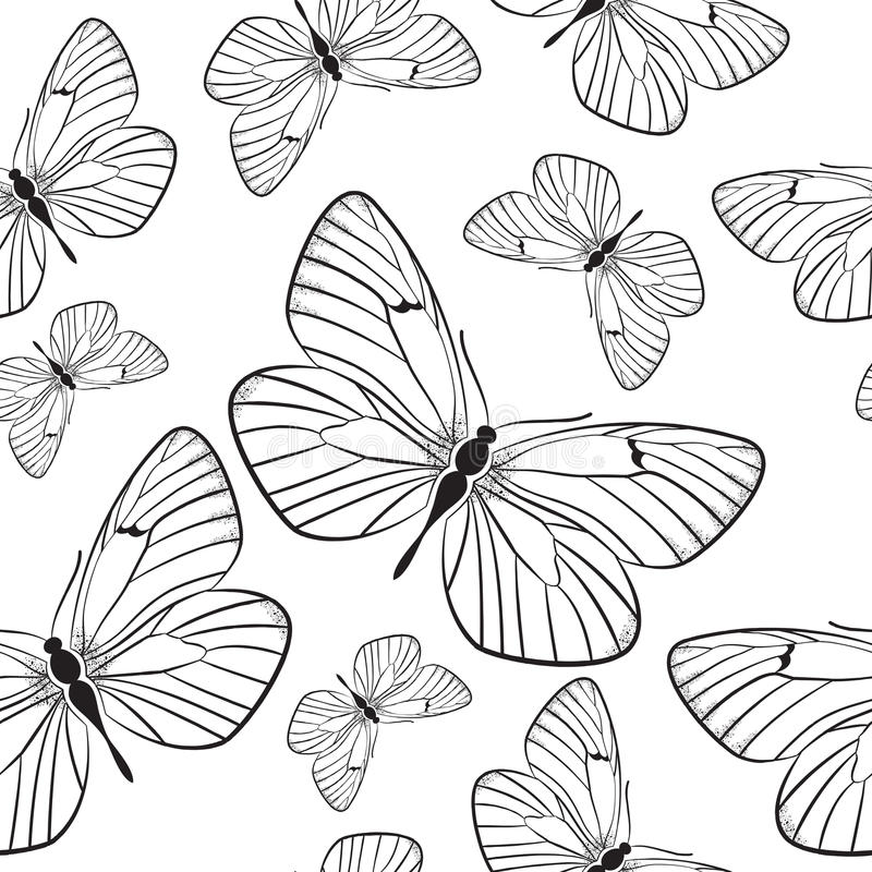 Download Seamless Pattern With Butterflies Stock Vector - Image: 33613716