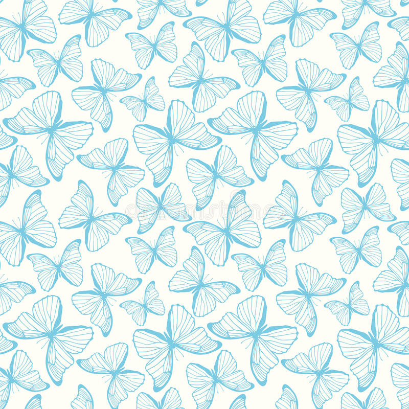 Seamless pattern with butterflies. Vector illustration, template for design and decoration vector illustration