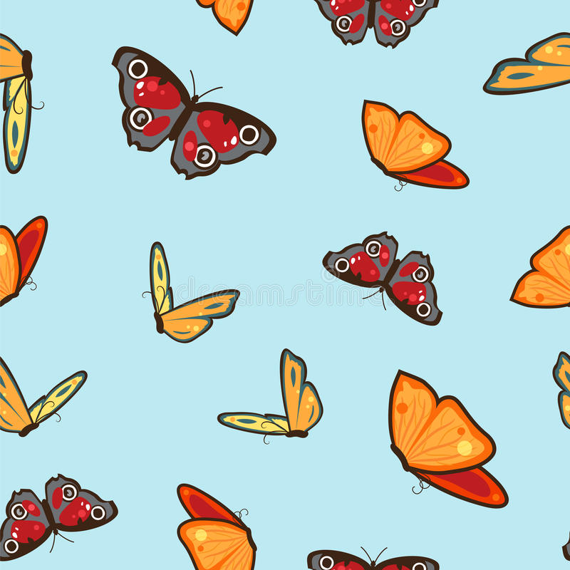 Seamless pattern with butterflys vector illustration