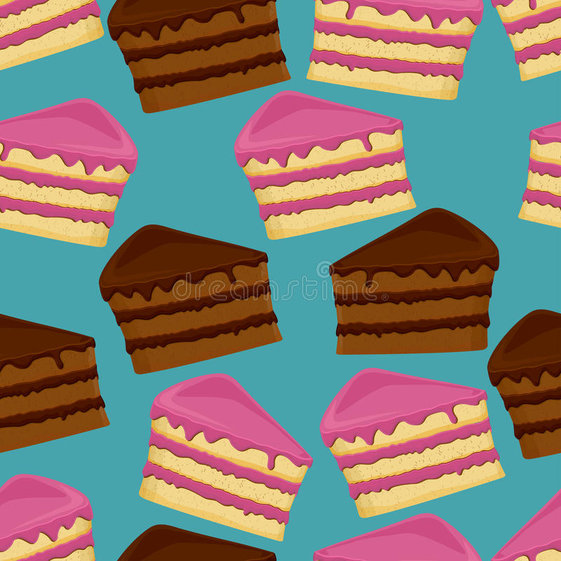 Seamless pattern with cakes.  stock illustration