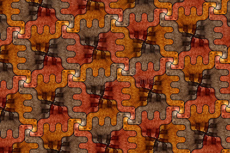 Seamless pattern with camels. Seamless pattern with stylized camels inspired by M. C. Escher vector illustration