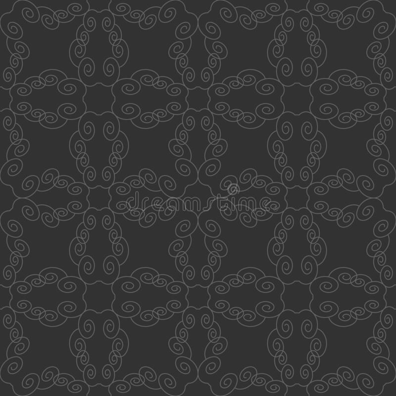 Seamless pattern with spirals. Dark grey and Light grey. Vector. This seamless pattern can be used  for many things different : wallpaper, tile, clothes vector illustration