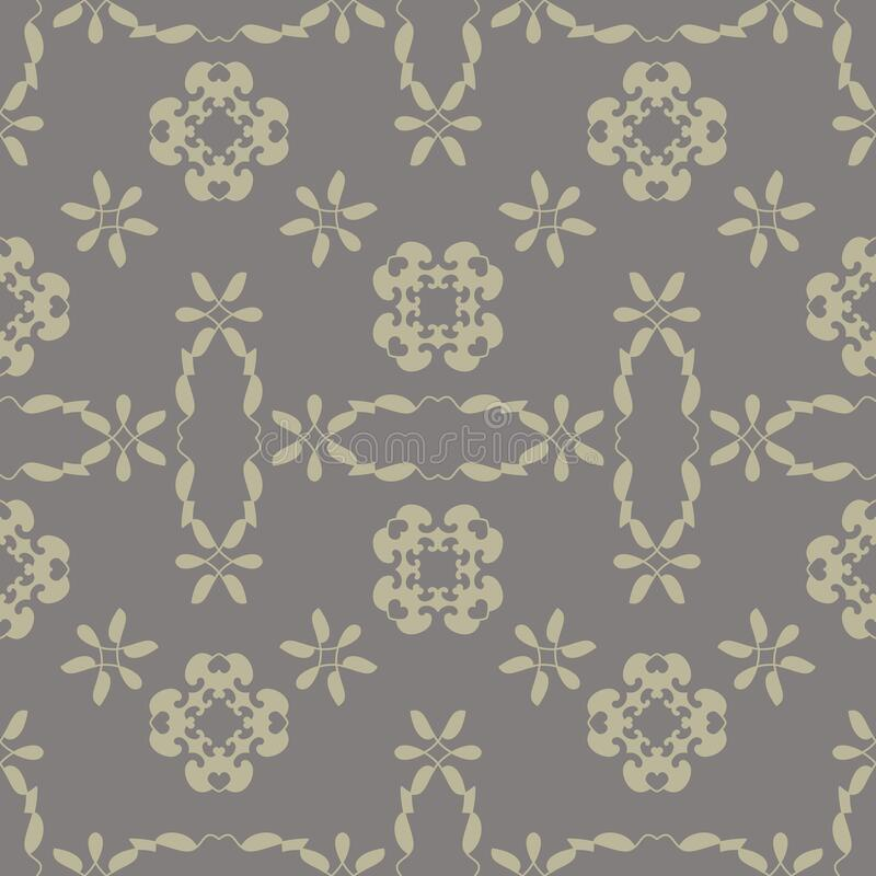 Seamless pattern with little hearts. Grey and light green color. Vector. stock photos