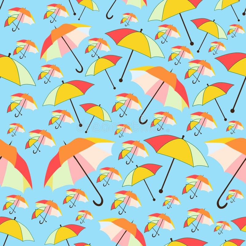 Download Pattern Bakground Of Umbrellas Stock Illustration