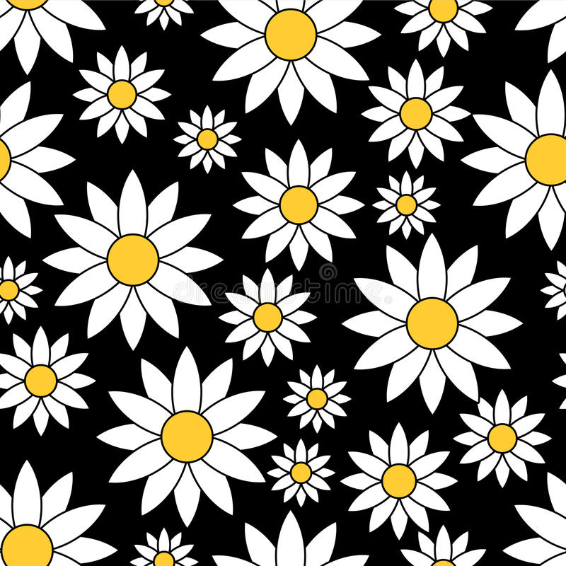 Download Seamless Pattern With Chamomiles Stock Photo - Image: 28537640