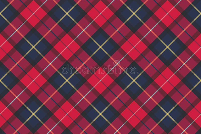 Seamless pattern check plaid fabric texture vector illustration
