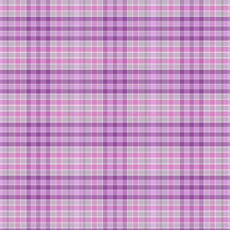 Seamless pattern of checkered cotton or linen fabric colors. Seamless pattern of checkered cotton or linen fabric in pink and purple pastel colors. in pink and stock illustration