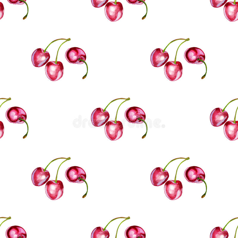 Seamless pattern with cherries vector illustration