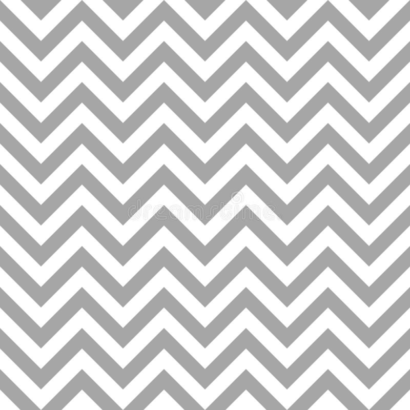 Retro Seamless Pattern Chevron Gray And White Lines stock illustration