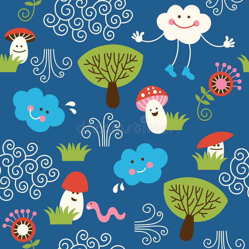 Seamless pattern, children design stock photo