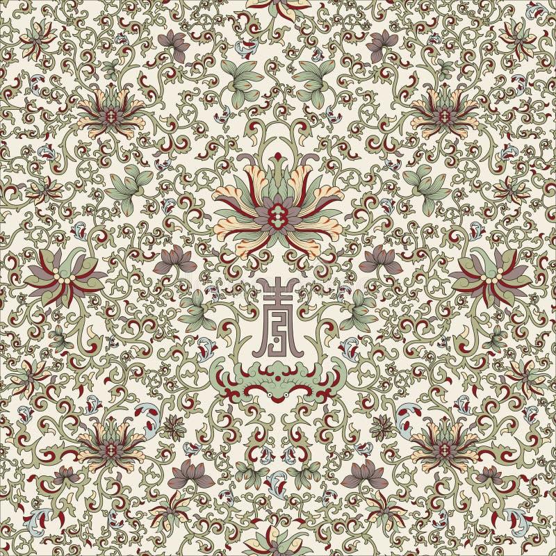 Seamless pattern chinese stock image