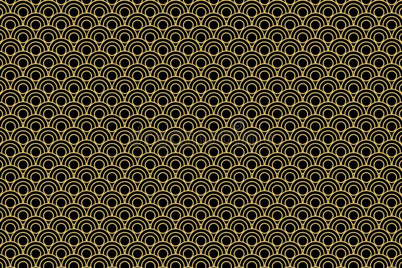 Seamless pattern in Chinese style on dark background. stock photos