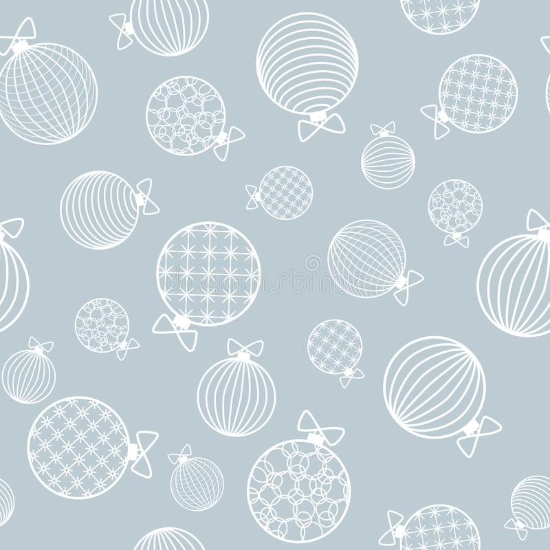 Seamless pattern with Christmas ball Winter festive background on New Year and Christmas ornament for greeting cards stock illustration