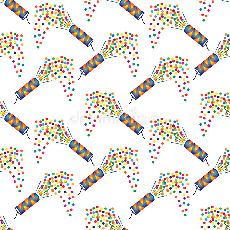 Seamless pattern with christmas crackers royalty free illustration