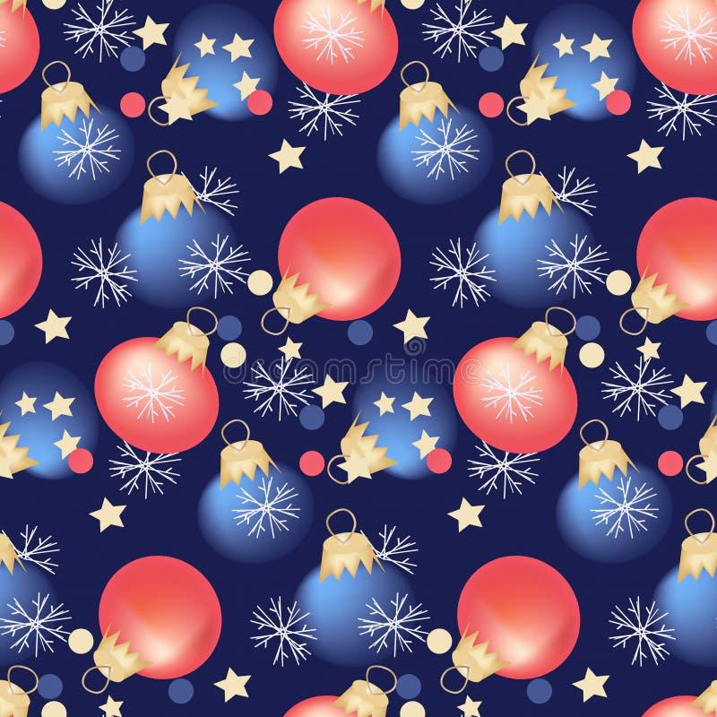 Seamless pattern, Christmas decoration Christmas balls holiday design royalty free illustration