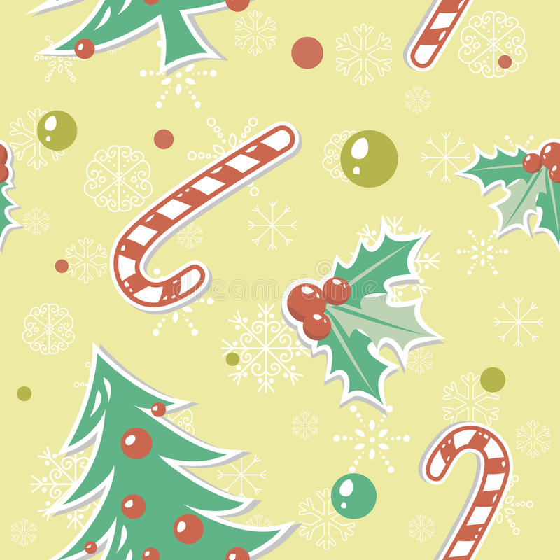 Download Seamless Pattern With Christmas Elements Stock Vector - Image: 22299650