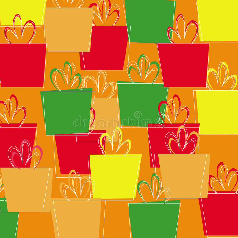 Seamless pattern with Christmas presents vector royalty free stock images