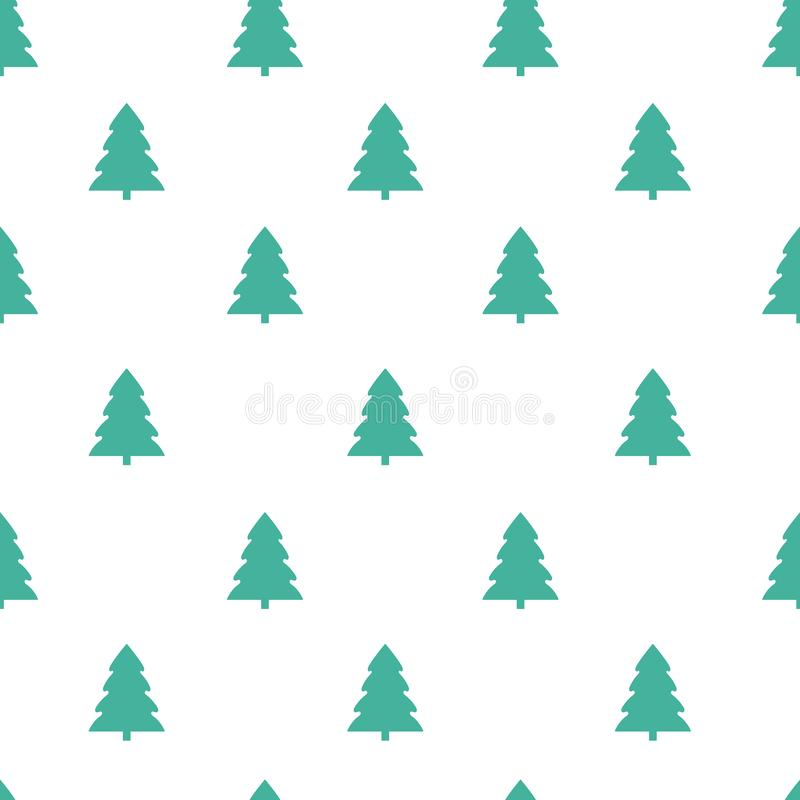 Seamless pattern with christmas tree on a white background. Vector stock illustration