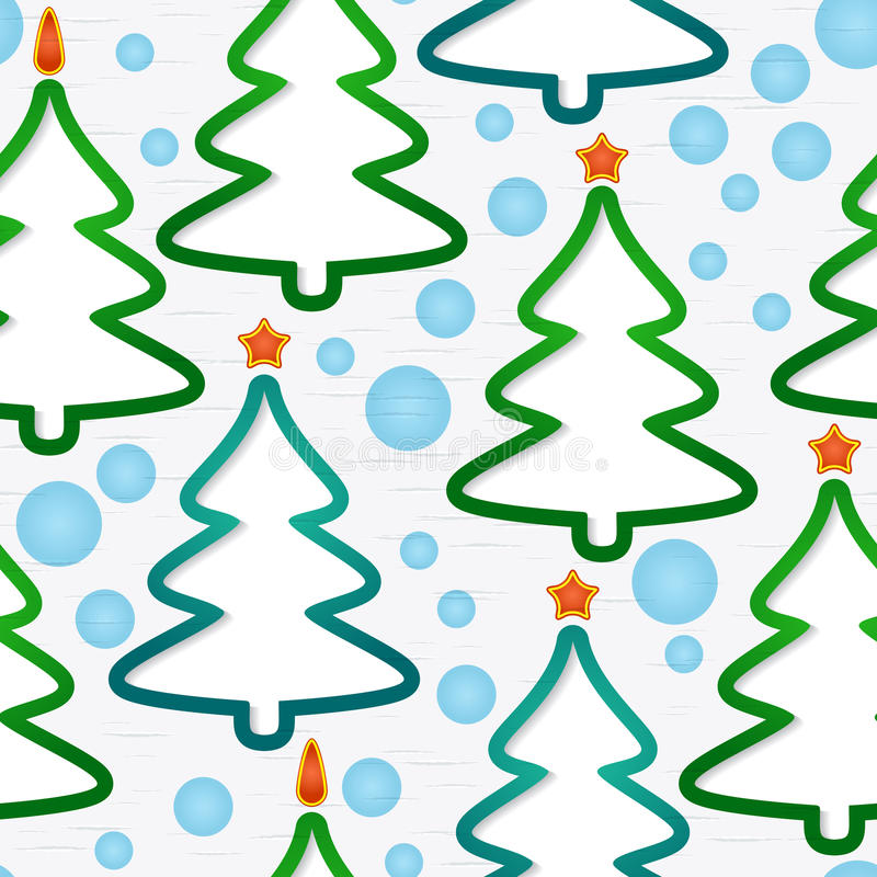 Download Seamless Pattern With Christmas-trees Royalty Free Stock Photography - Image: 28094307