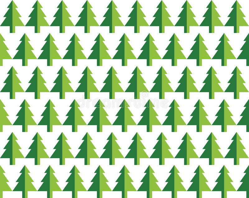 Download Seamless Pattern Christmas Trees For New Year Greeting Card Wallpaper Background Vector Illustration