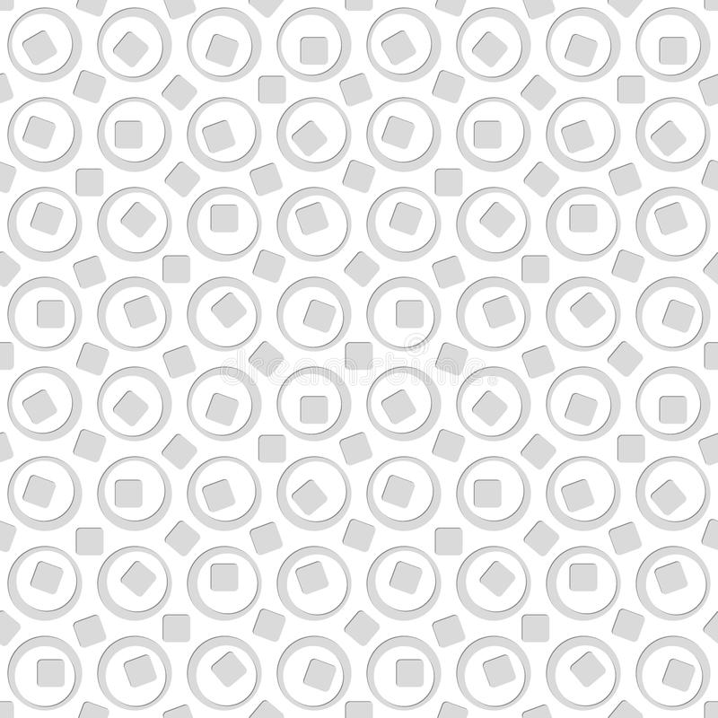 Seamless pattern of circles and squares. Abstract background. Vector illustration. Good quality. Good design vector illustration