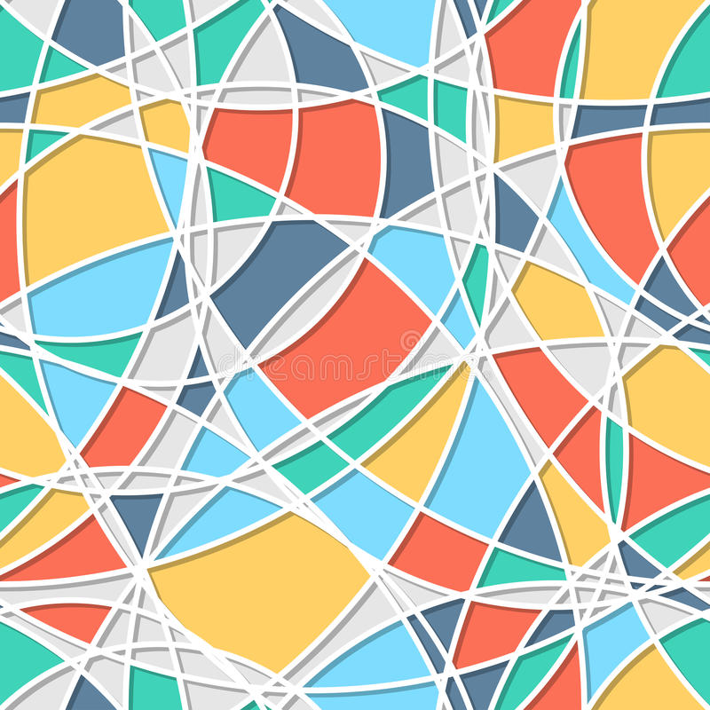 Lines And Shapes : Seamless pattern of circles trendy texture endless