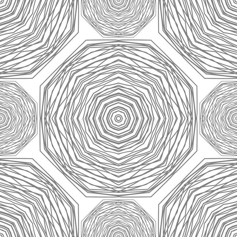 Seamless pattern. Circular stylish background. Vector repeating texture. stock illustration