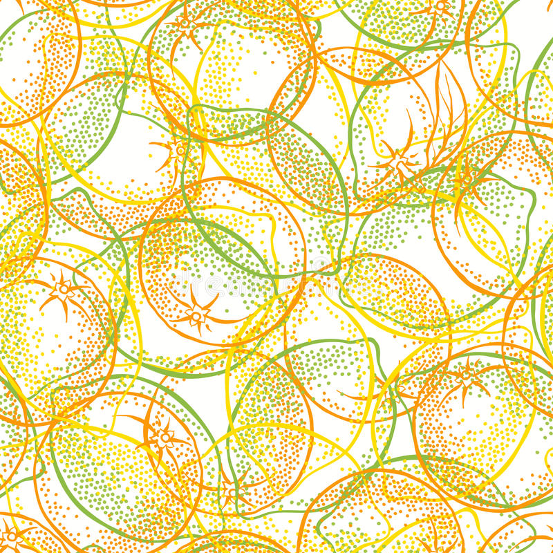 Seamless pattern with citrus fruits: lemons, limes and oranges. Endless background with citrus fruits. Vector illustration vector illustration