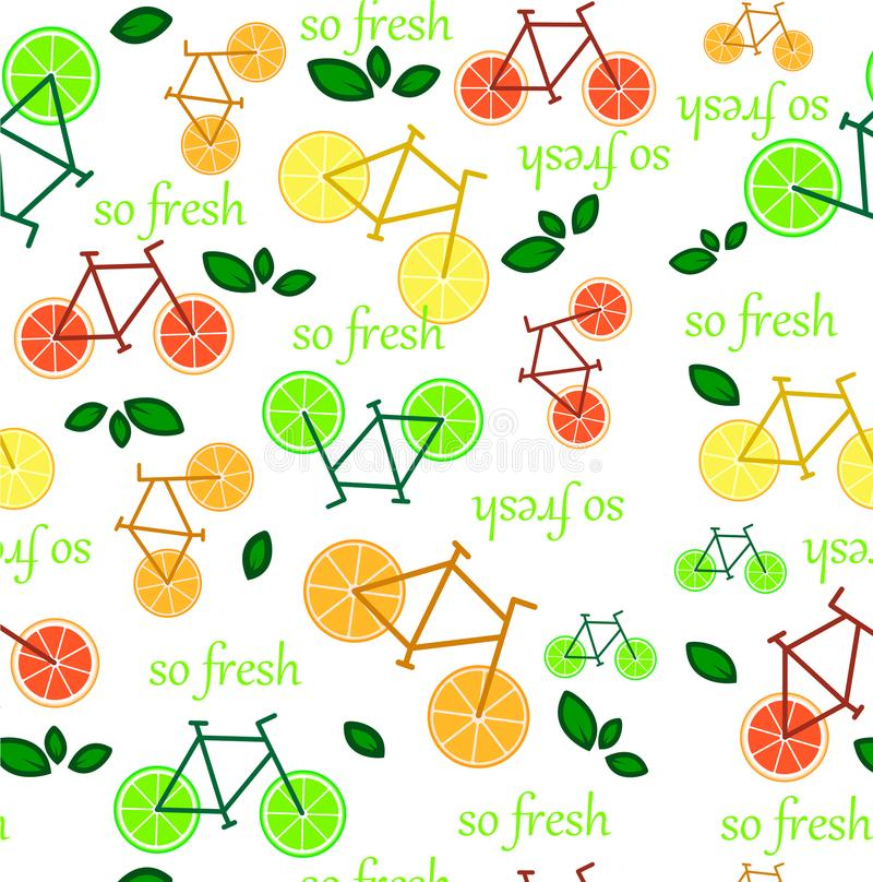 Seamless pattern with citrus fruits slices. Seamless pattern with oranges ,lime lemon grapefruit and leaves. texture illustration stock illustration
