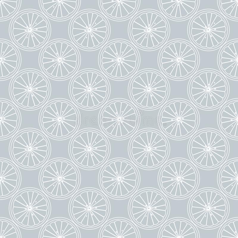 Seamless pattern with Citrus slice vector illustration. 10 eps vector illustration