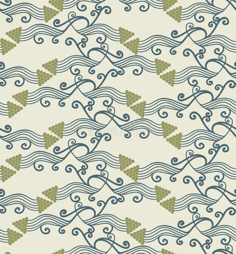 Seamless pattern. Classic geometric seamless pattern in style art nouveau vector illustration