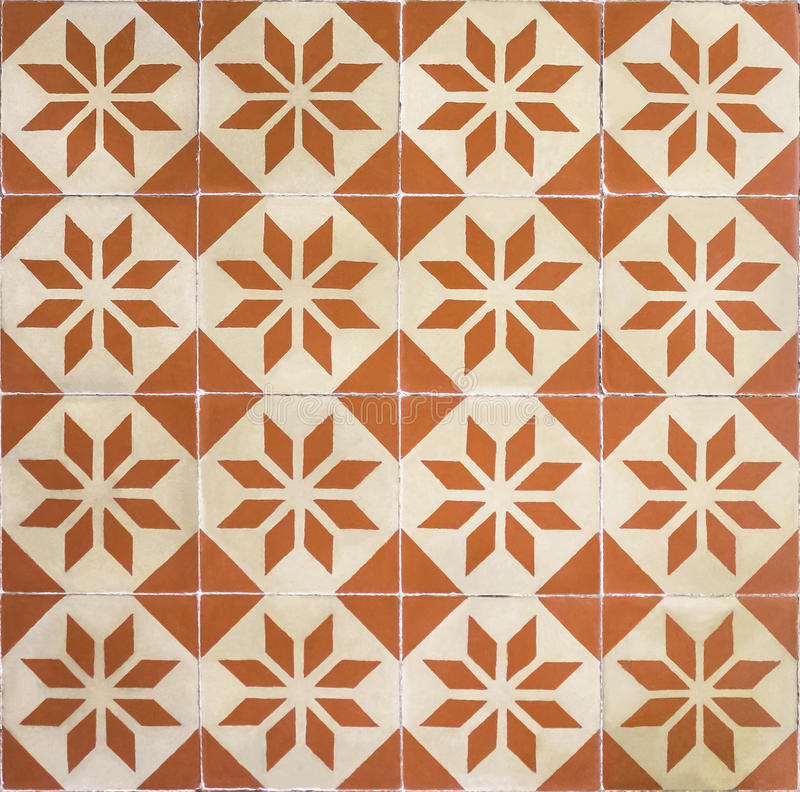 Seamless pattern of classical floor tiles. Seamless pattern of classical orange floor tiles royalty free stock photos