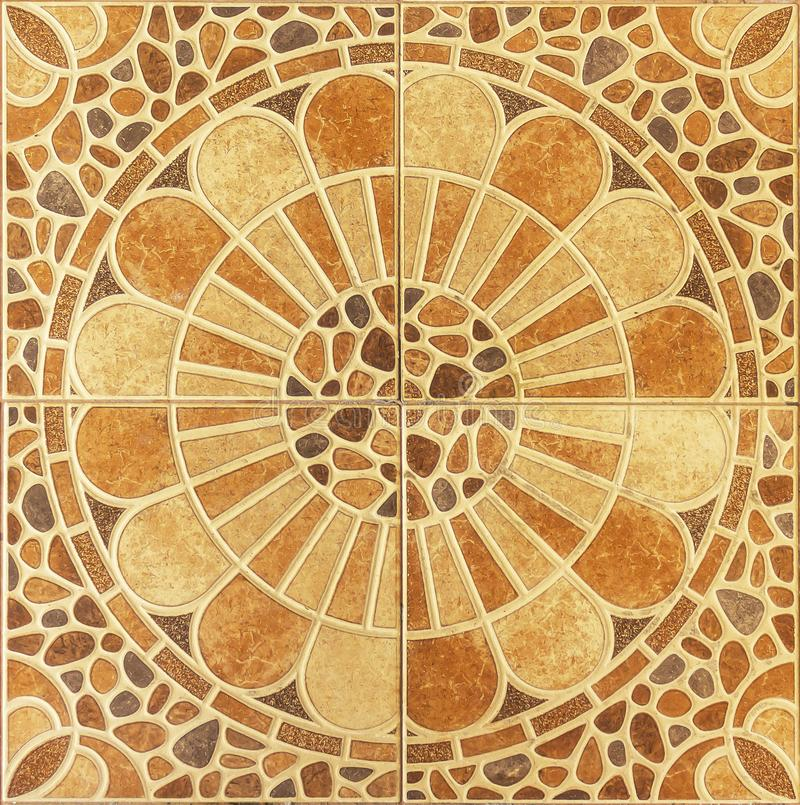 Seamless pattern of classical floor tiles stock photo