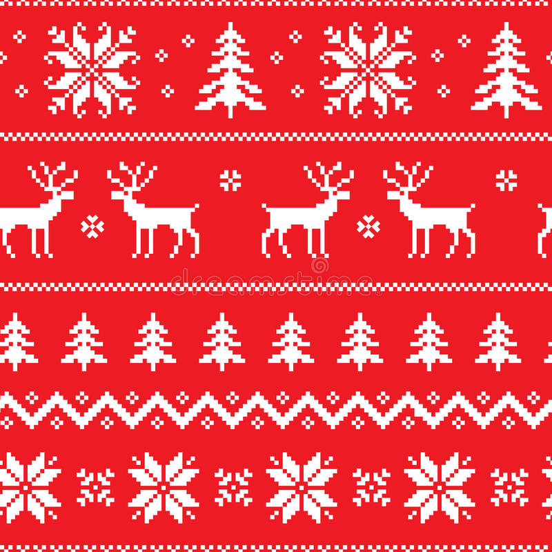 Seamless pattern with classical sweater design vector illustration