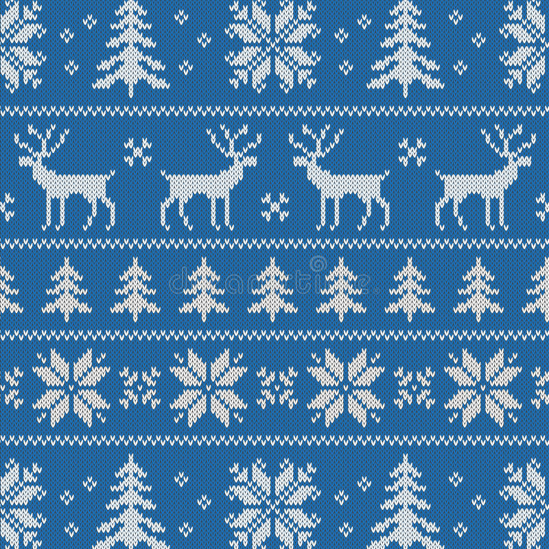 Seamless pattern with classical sweater design stock photography