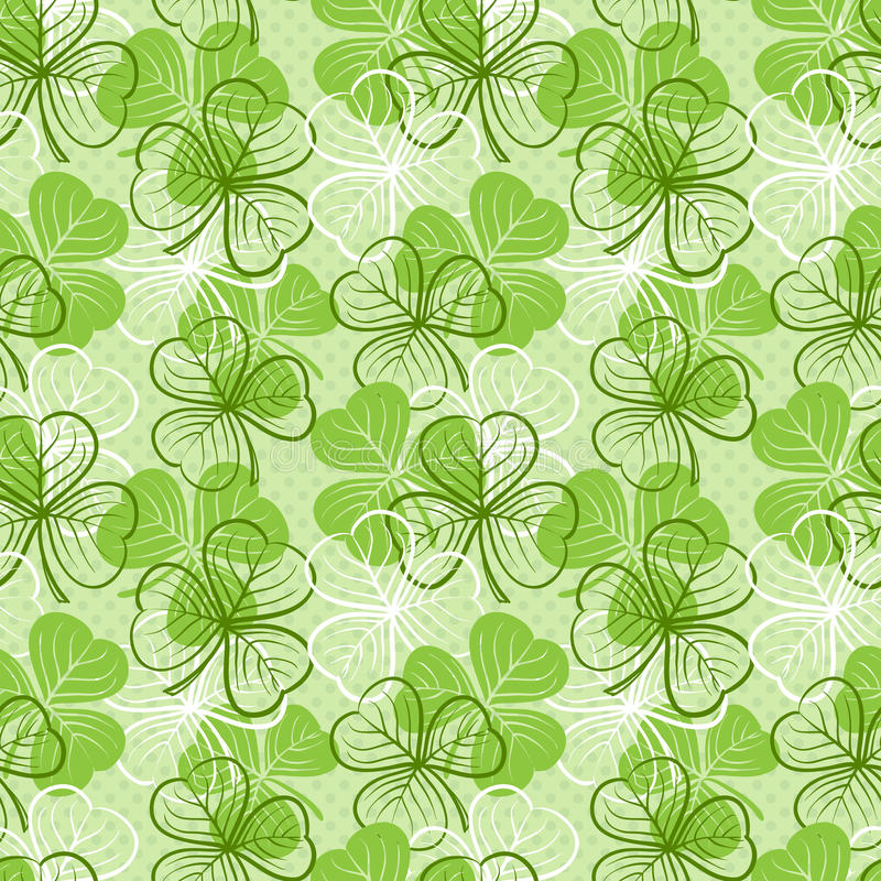 Download Seamless Pattern With Clover Stock Vector - Image: 33597931