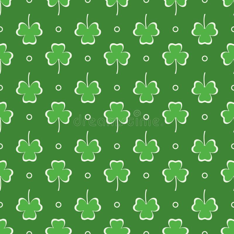 Seamless pattern. Clover leaves. St. Patrick's Day royalty free illustration