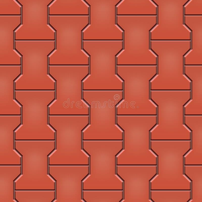 Seamless pattern of cobblestone pavement vector illustration