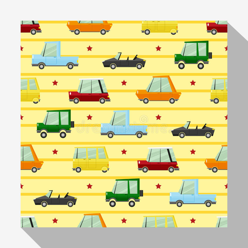Download Seamless Pattern Collection With Car Stock Vector - Image: 83709067